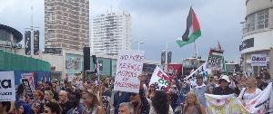 Gaza march for peace photo - Brighton, England