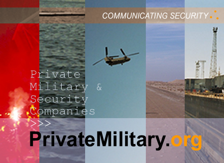 Welcome to PrivateMilitary.org image: Communicating security